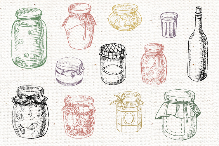 Jams & fruits in vector example image 3