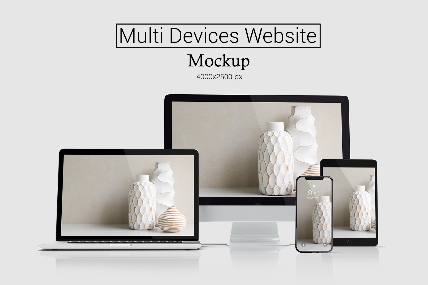 Multi Devices Website Mockup example image 1