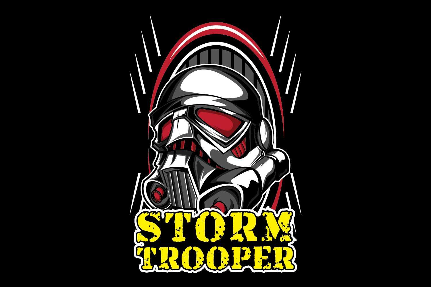 Trooper cloth design template example image 1