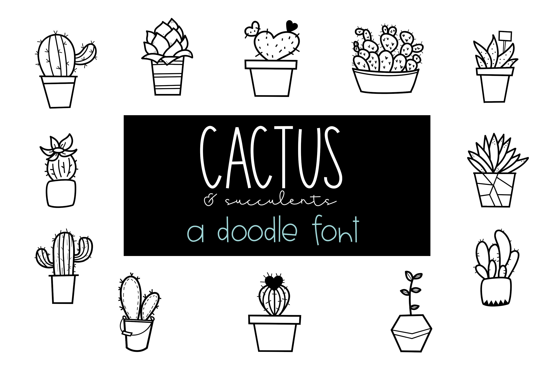 Fancactus - A Cactus & Succulent Doodle Font  example image 1