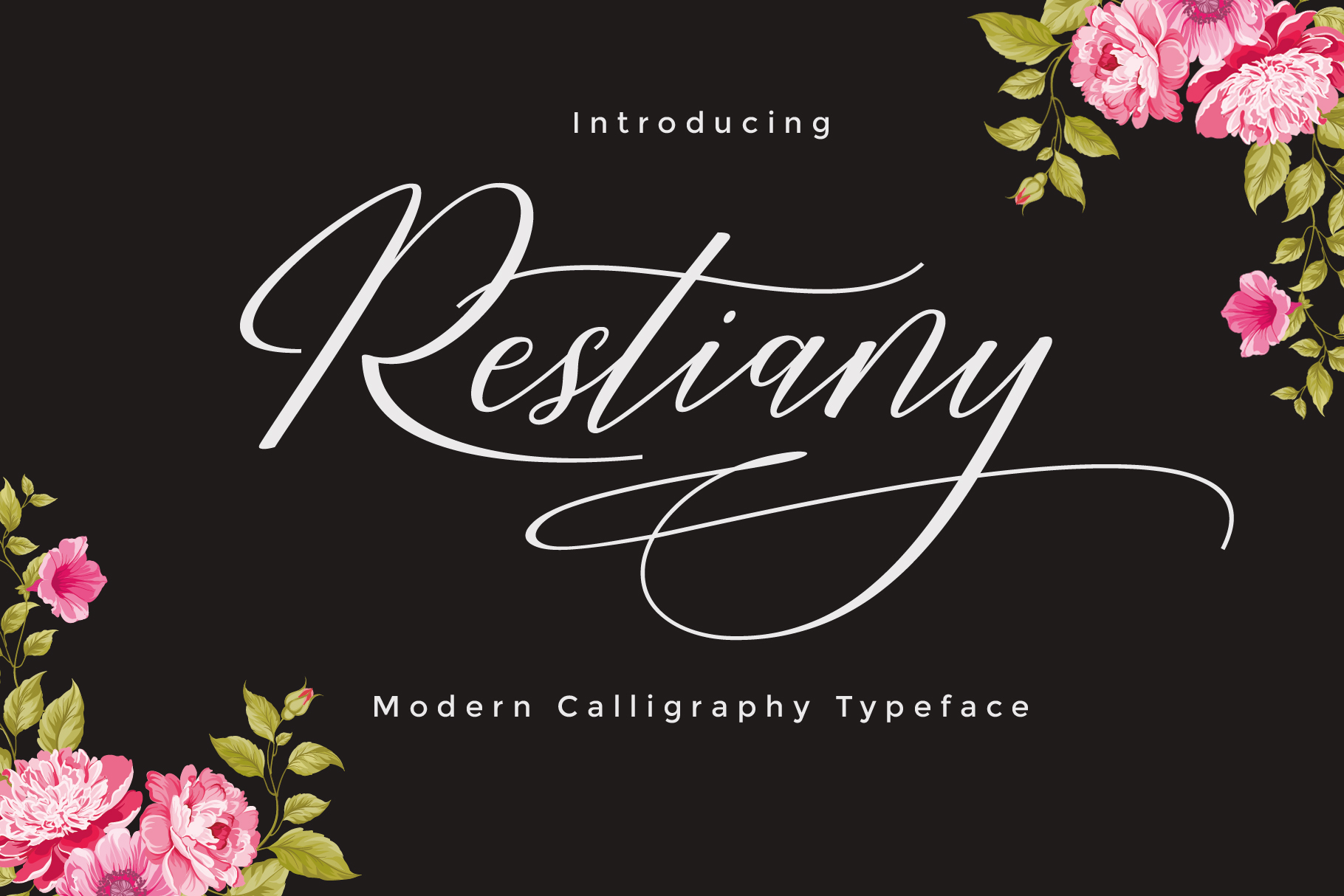 Restiany Script | Sweet Font example image 1