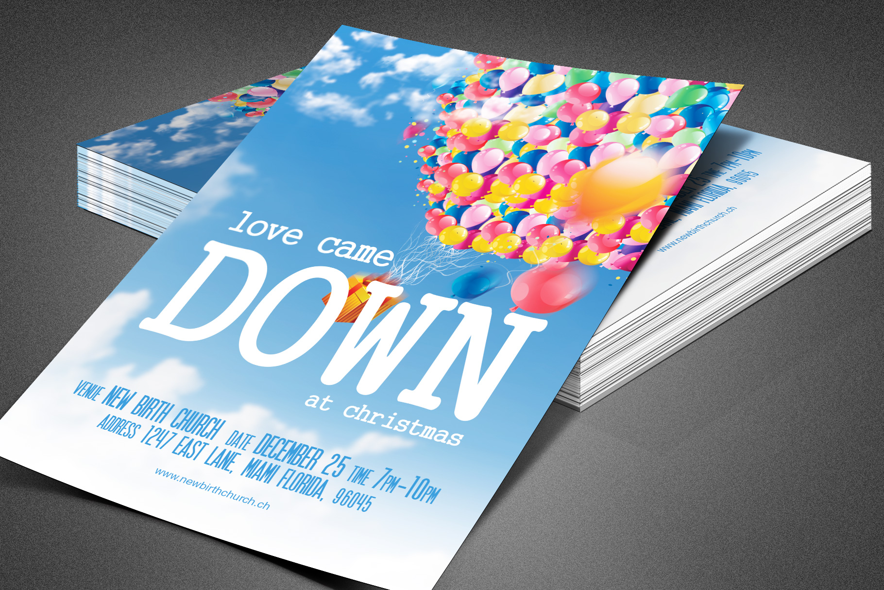 Kids Christmas Pageant Church Flyer example image 1