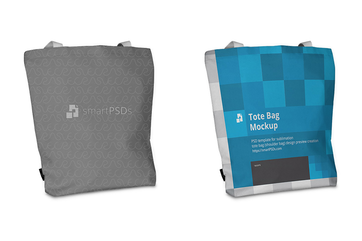 Tote Bag Sublimation Design Mockup - 5 Views example image 3