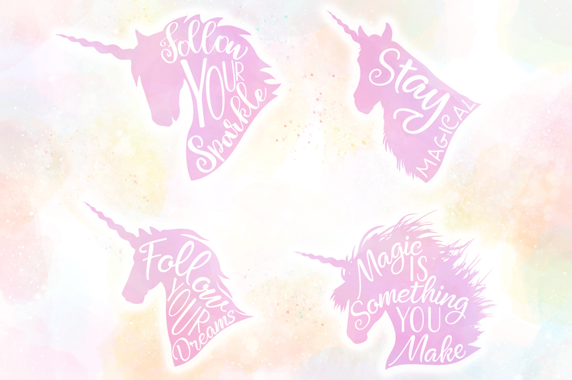 Unicorn Quotes SVG Cut Files Pack example image 2