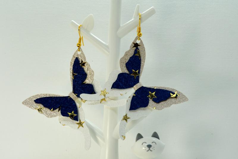 Butterfly earrings template SVG, DIY earrings template example image 3