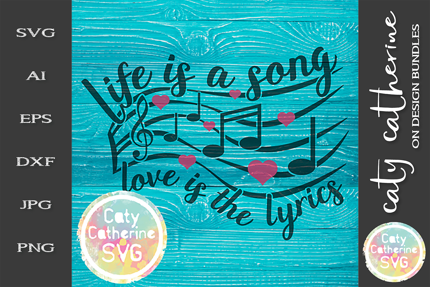 Life Is A Song Love Is The Lyrics SVG Cut File example image 1