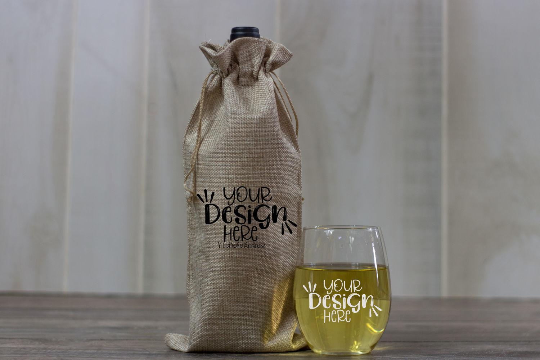 Winter Wine Mock Up Bundle example image 8