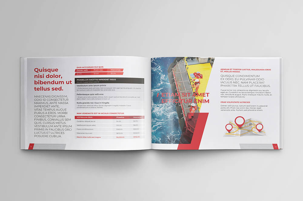 Offshore Oil and Gas Booklet Design Template example image 9