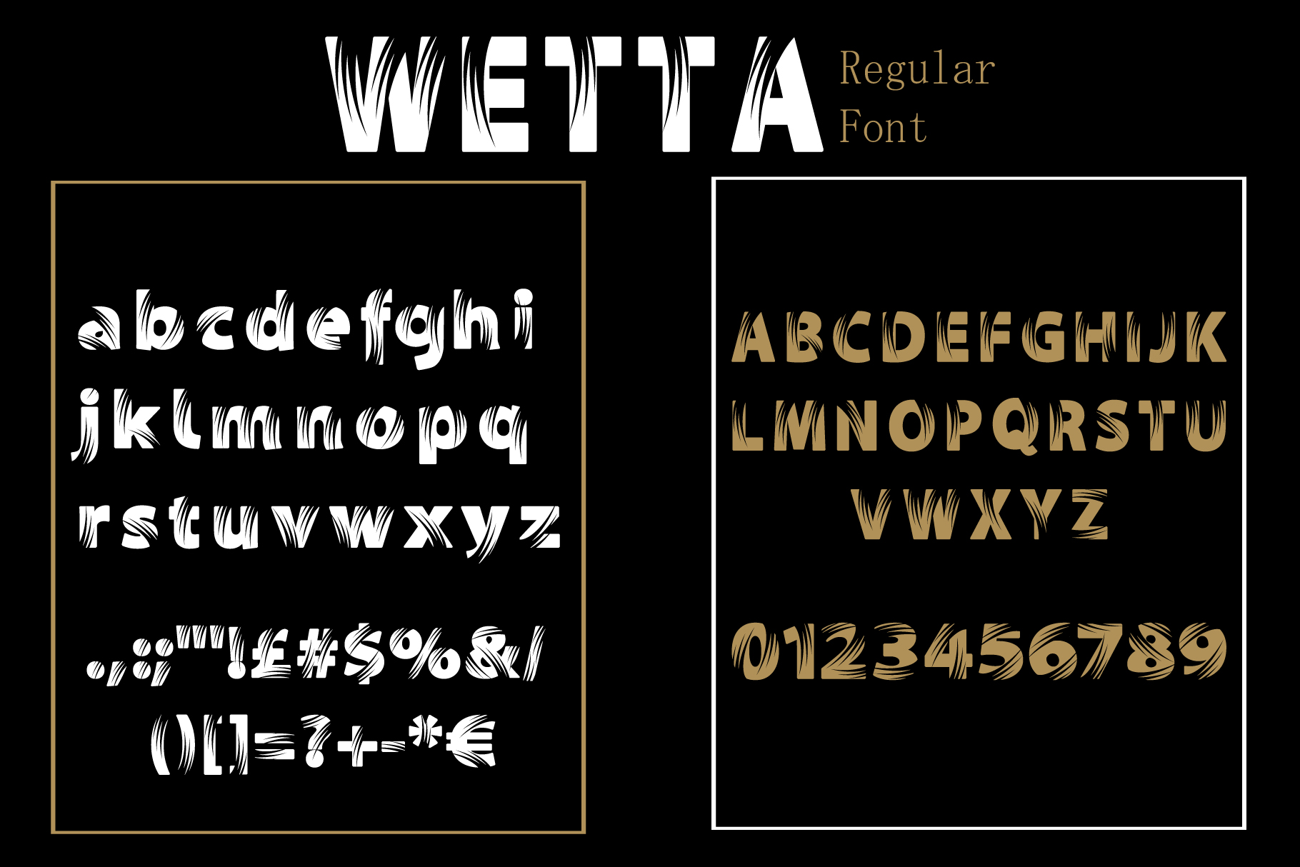 Wetta Regular Font example image 8