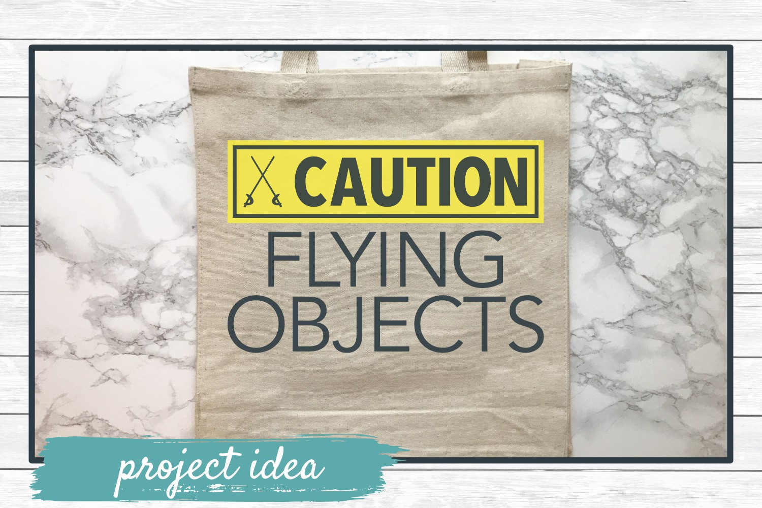 Caution Flying Objects, Color Guard SVG Cut File example image 2