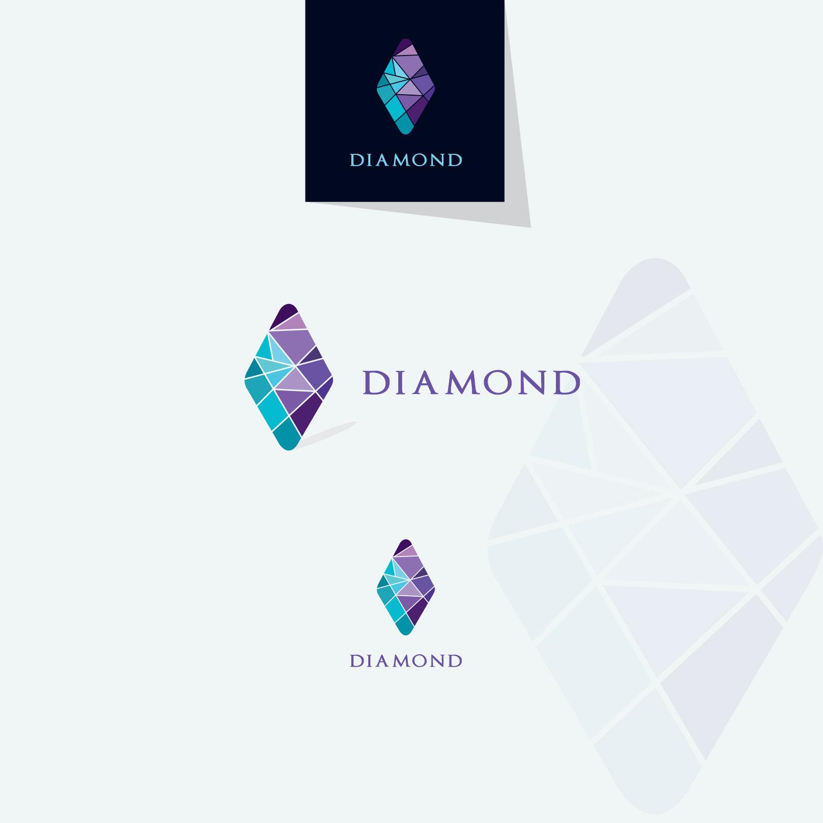 Diamond vector logos collection example image 2