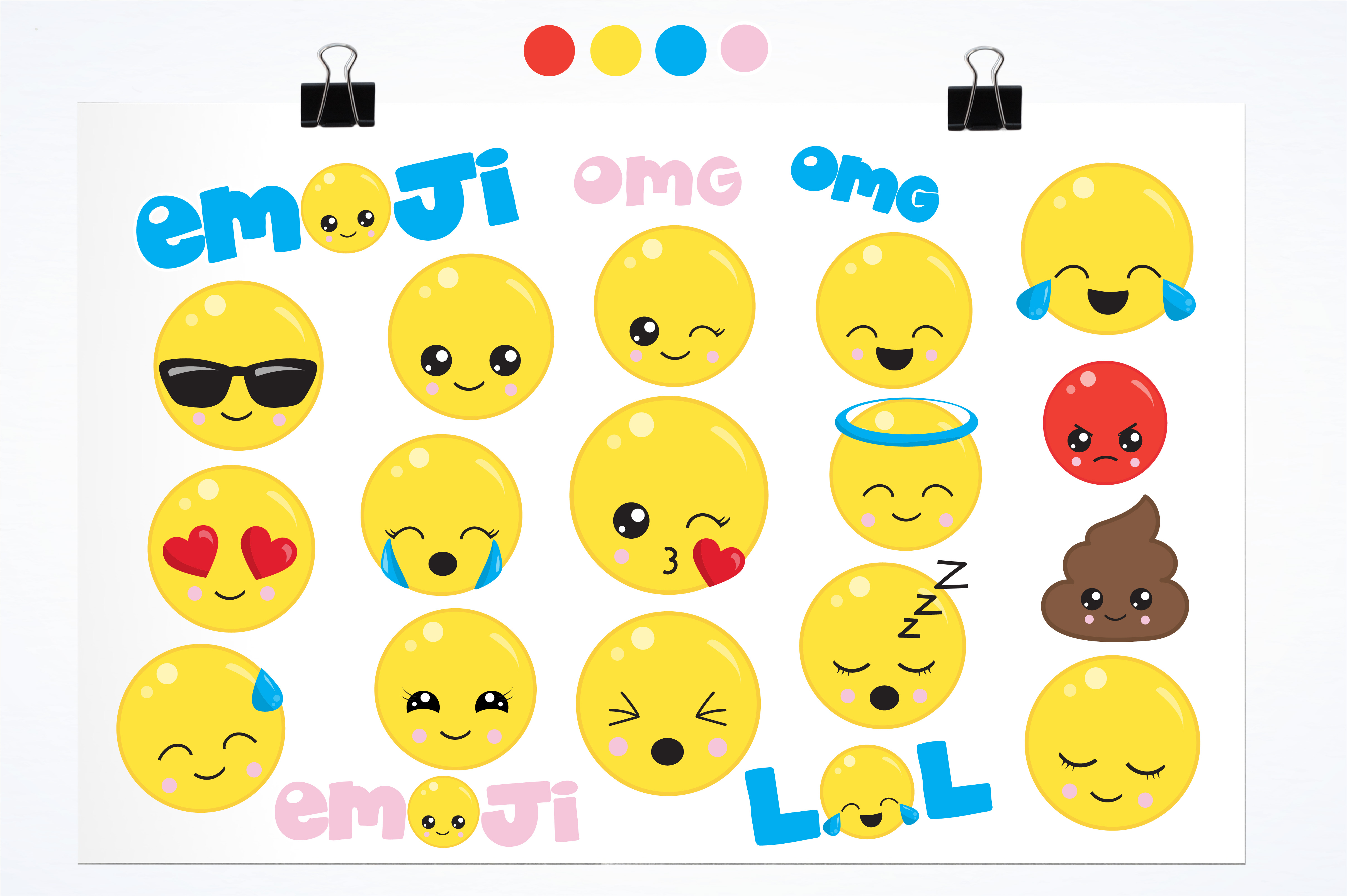 Cute emoji graphics and illustrations example image 2