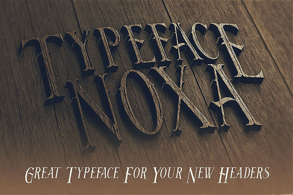 Noxa - Display Font example image 4