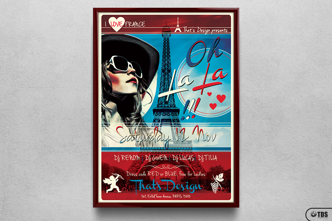 French Party Flyer Template V2 example image 6