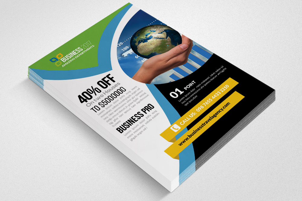 Global Business Flyer Template example image 2