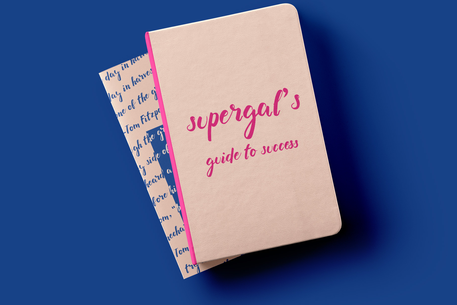Supergal Casual Brush font example image 3