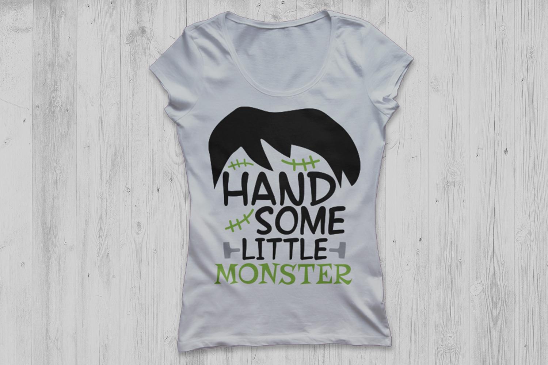Handsome little monster svg, Halloween svg, Monster svg. example image 3