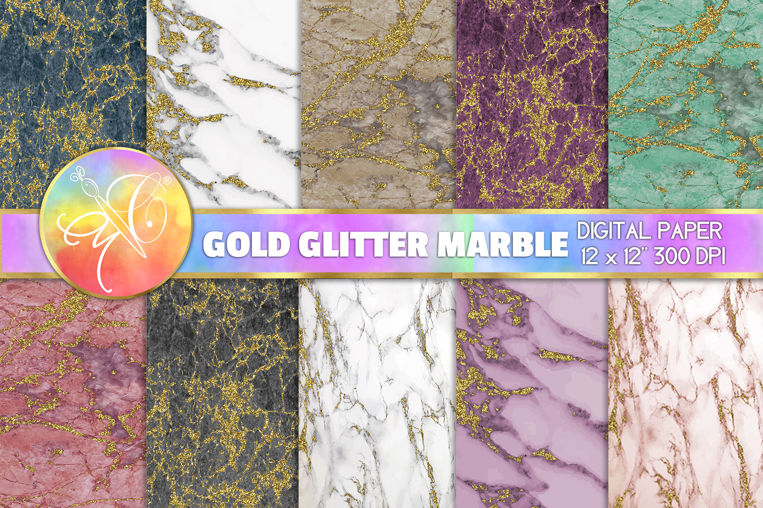 Marble Digital Paper, Marble Background example image 1