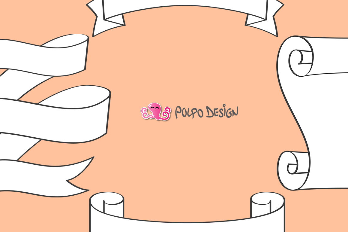 White Banners clip art example image 2