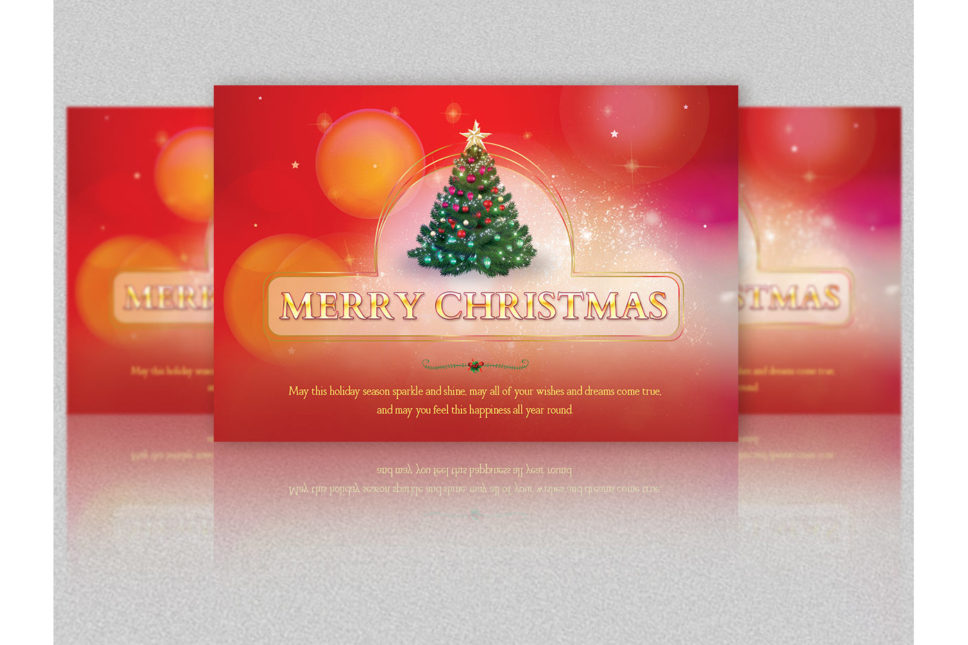 Merry Christmas Postcard Template example image 3