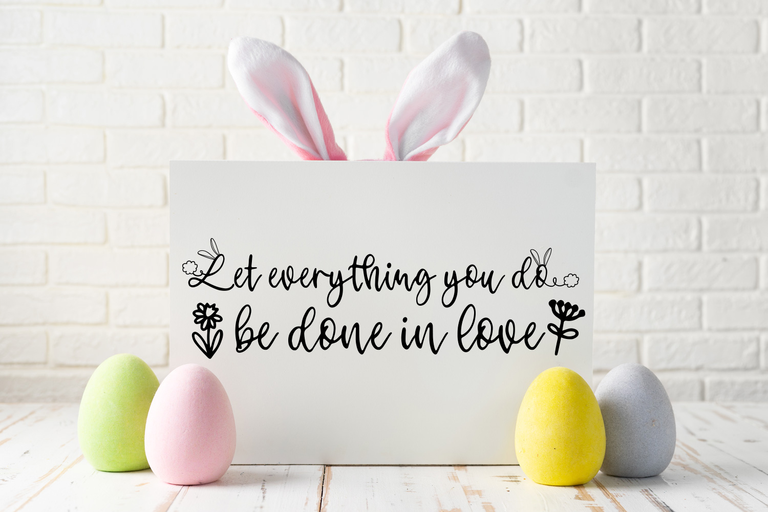 Bunny Tail - An Easter script font with doodles example image 7