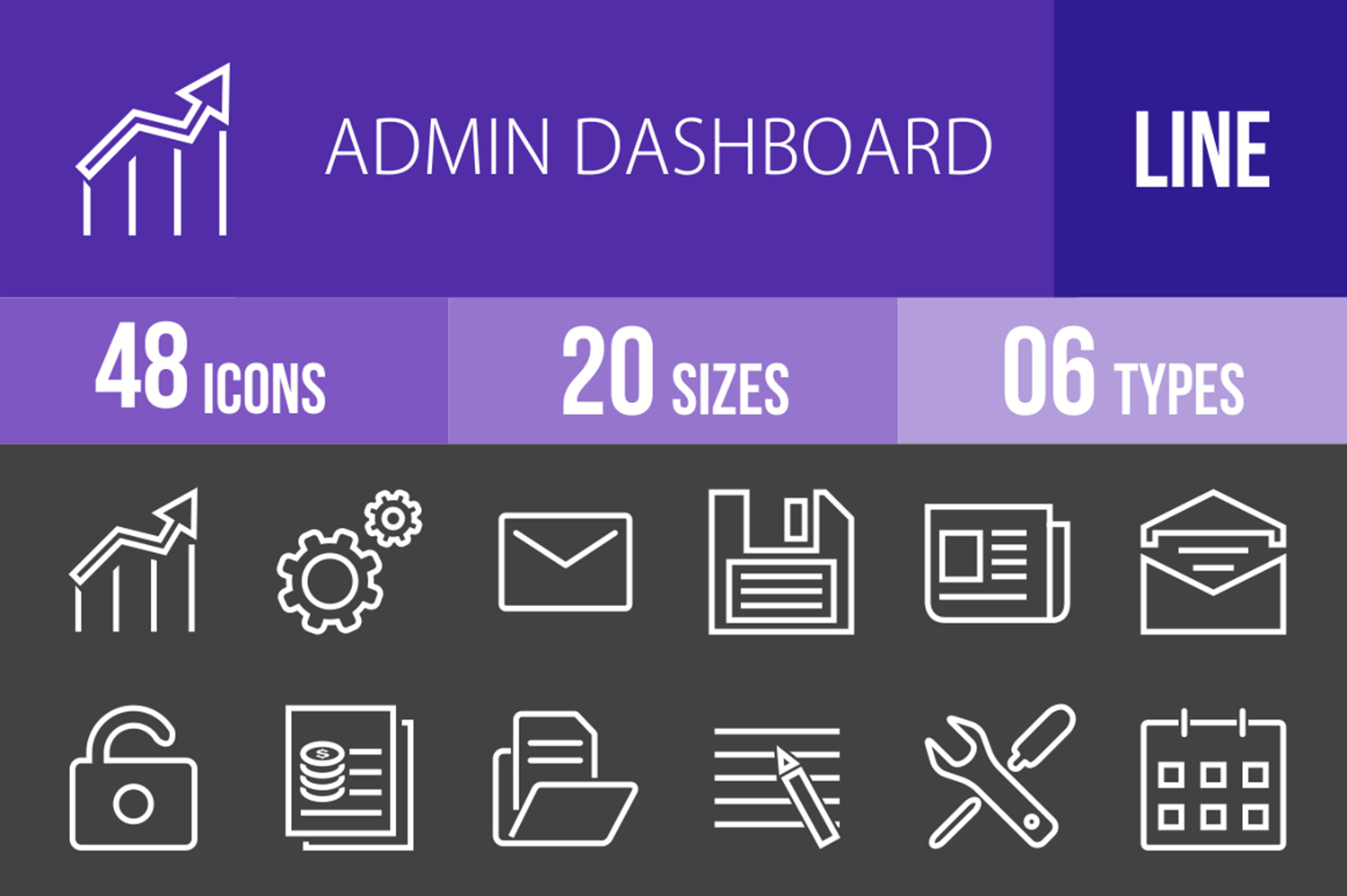 48 Admin Dashboard Line Inverted Icons example image 1