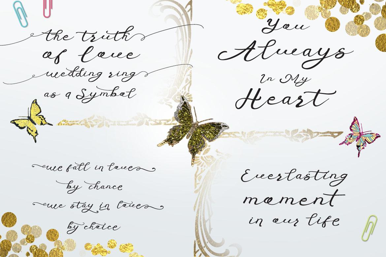 Anniversa Wedding Font example image 3