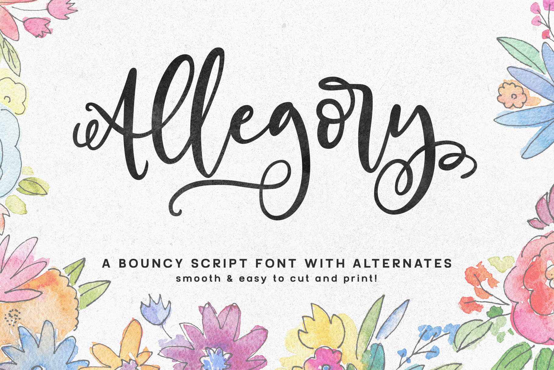 Allegory - a fun and curly script font! example image 1
