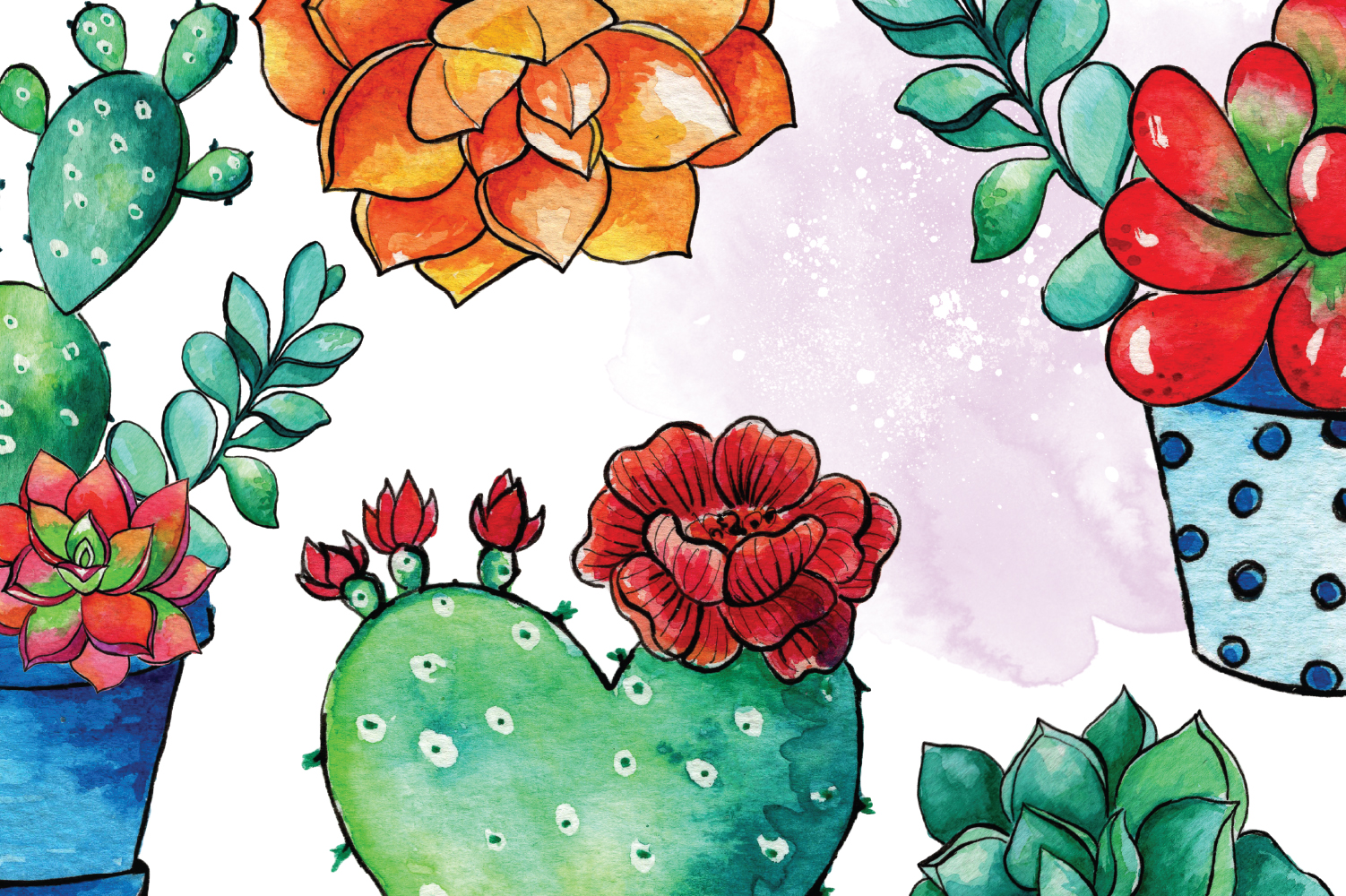 Cactus Blossom Clip Art example image 2