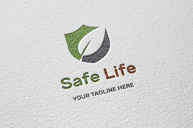 Shield Leaf Logo Design example image 3