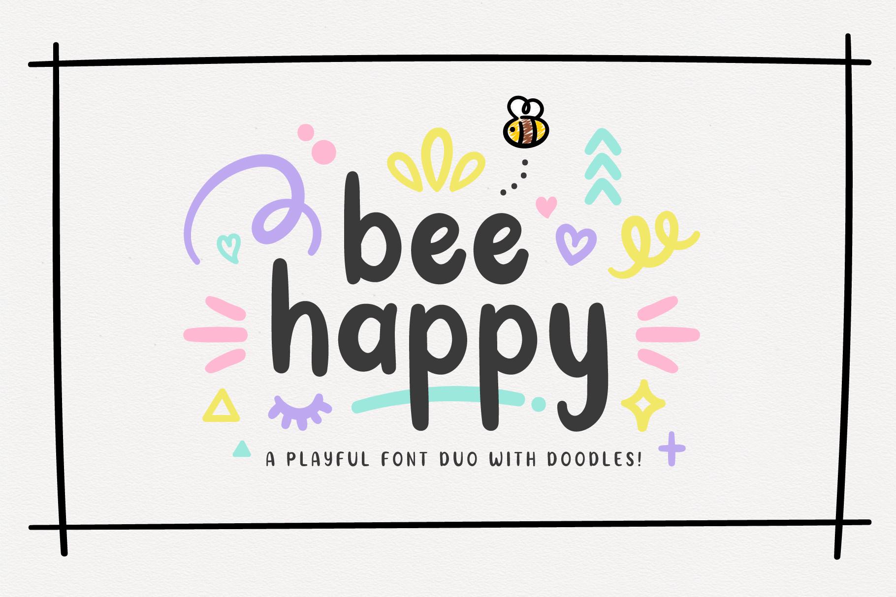 BeeHappy Font Duo example image 1