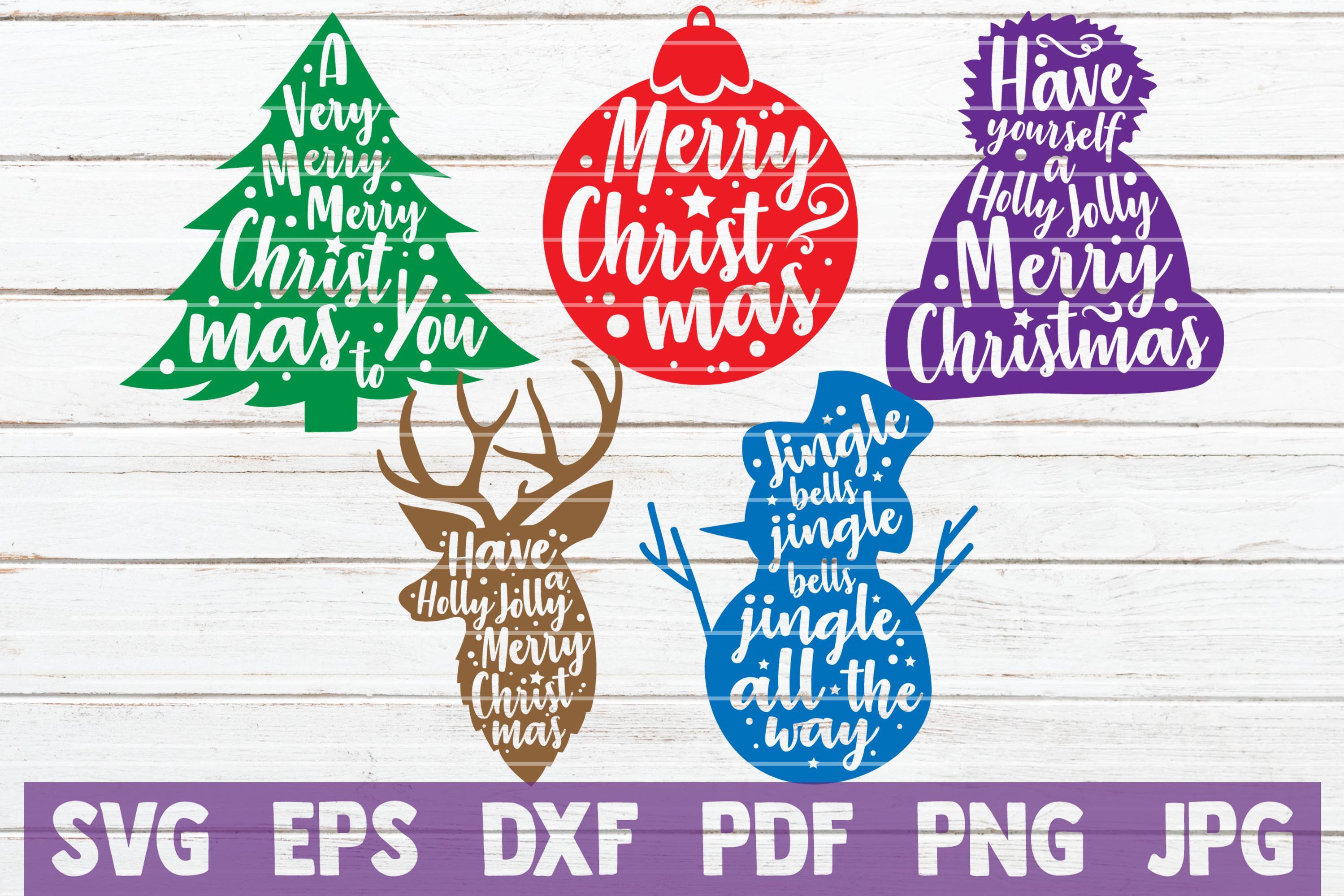 HUGE Christmas SVG Bundle |100 Holiday Designs SVG Cut Files example image 7