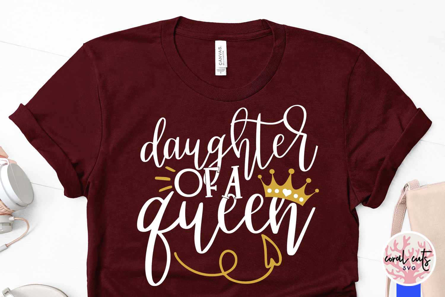 Mother of a princess and daughter of a queen Matching Svg example image 4