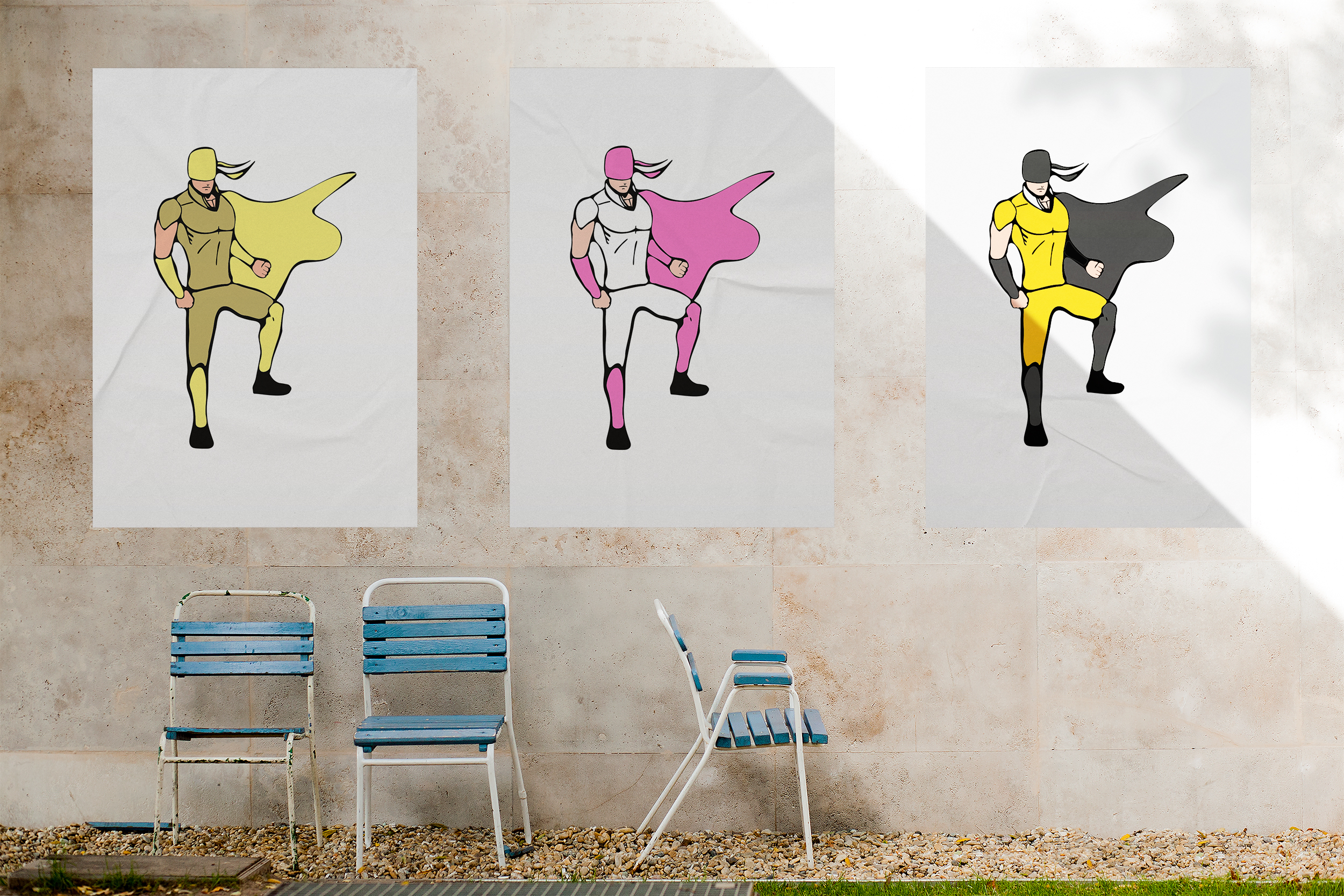 Superhero models in various poses. example image 3