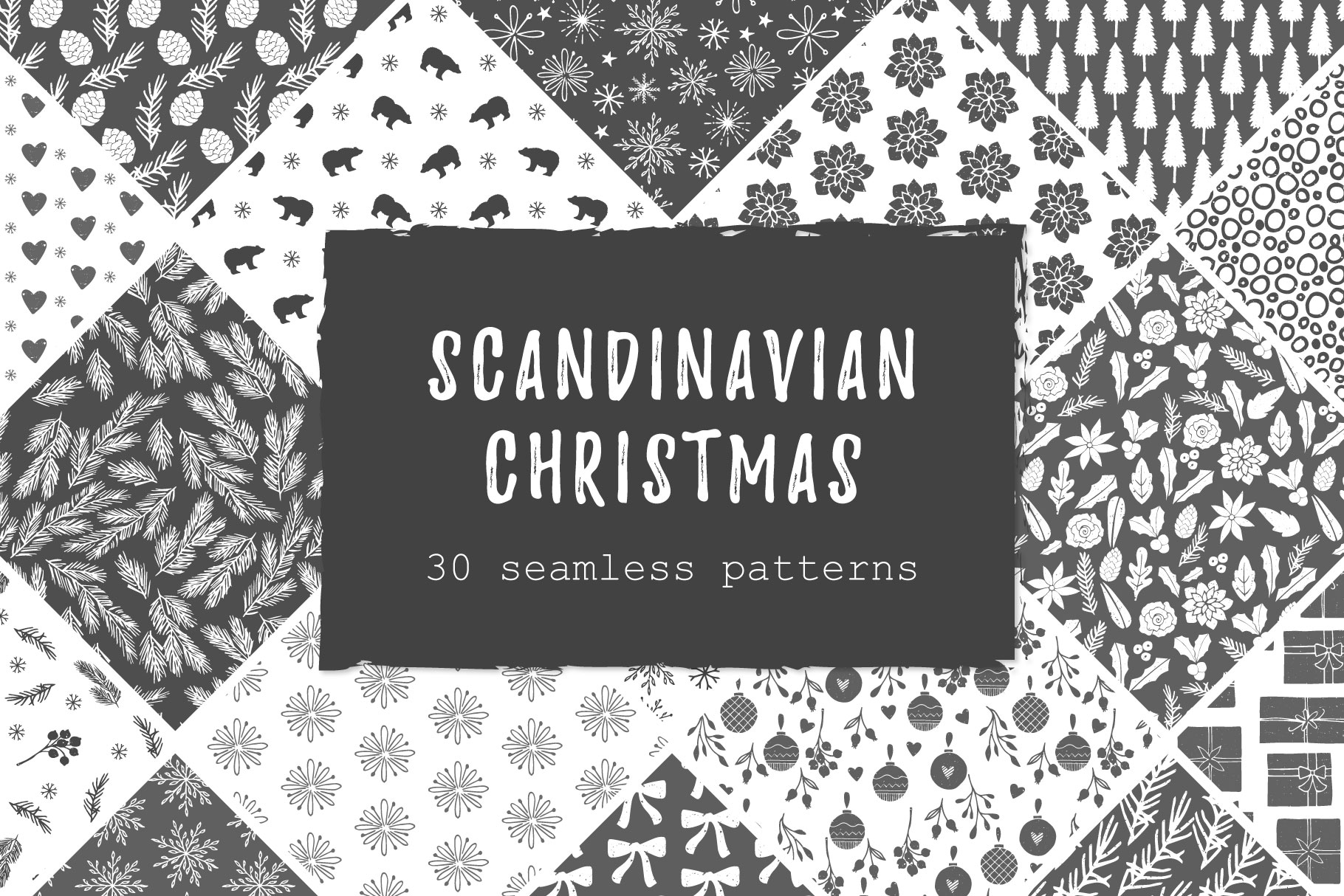 Scandinavian Christmas Patterns example image 1