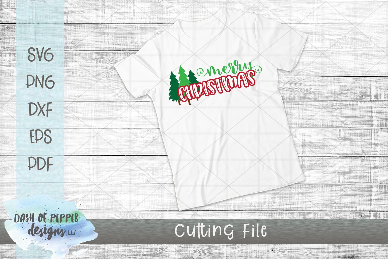 Merry Christmas SVG - A Christmas SVG with Christmas Trees example image 2
