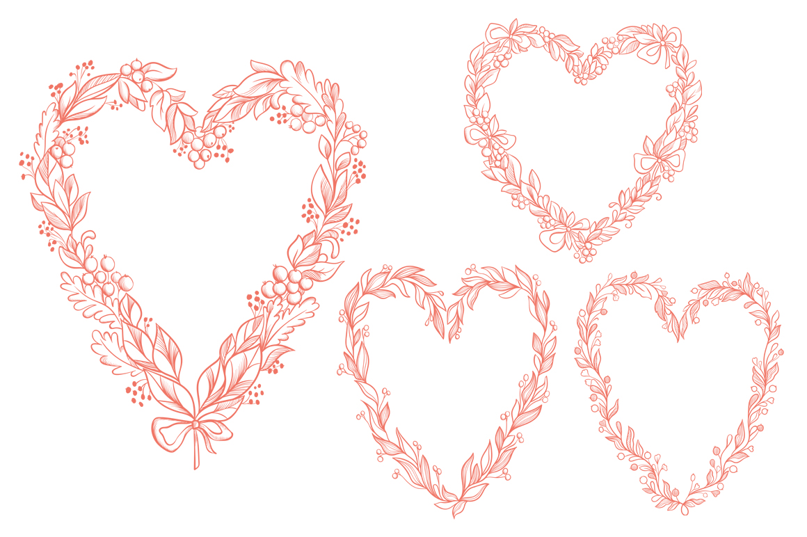 Vector Floral, patterns & hearts example image 7