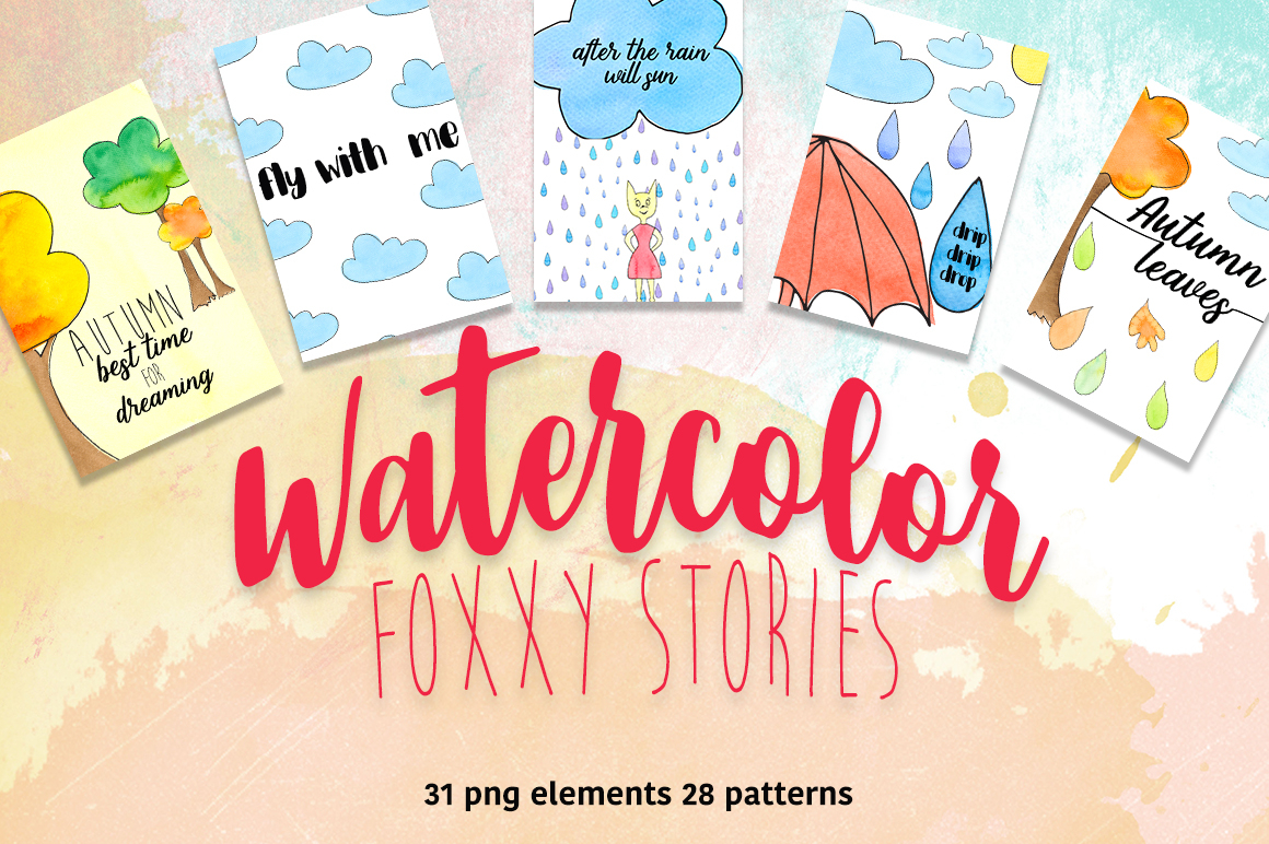 Watercolor fox story example image 1