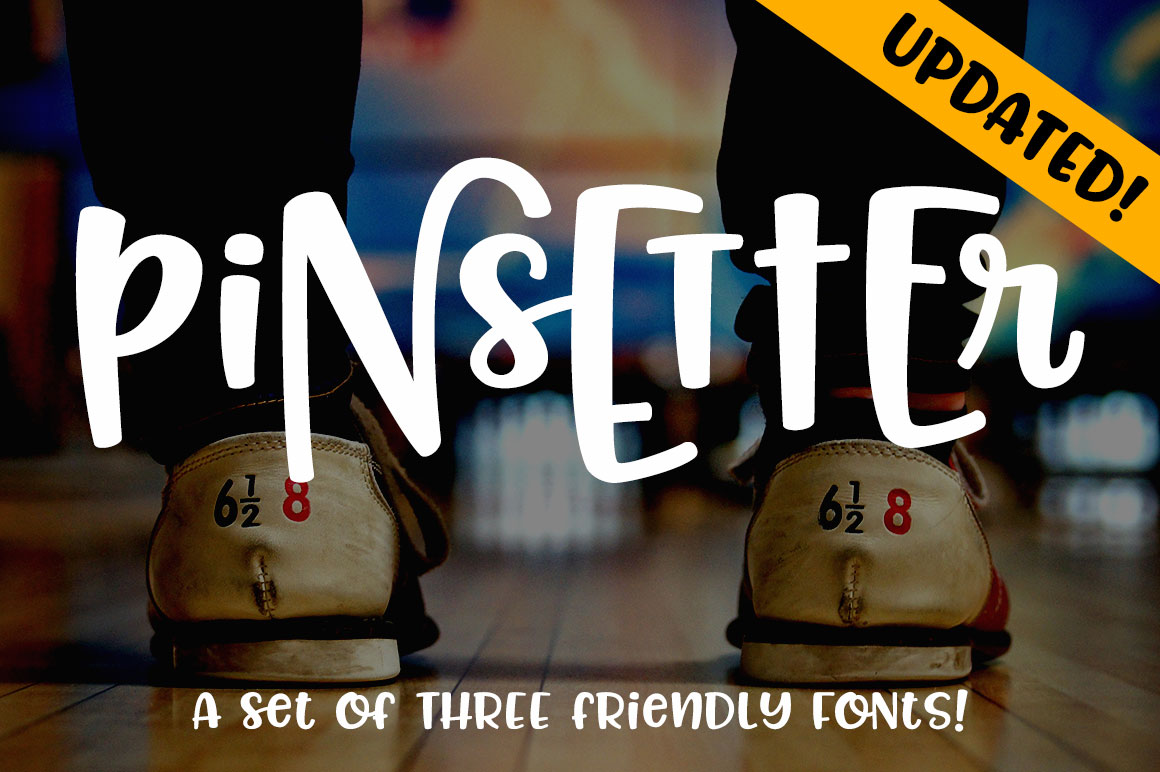 Pinsetter: three fun fonts! example image 1