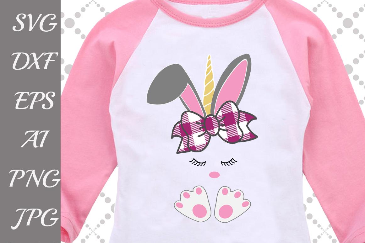 Bunny Unicorn Svg example image 1