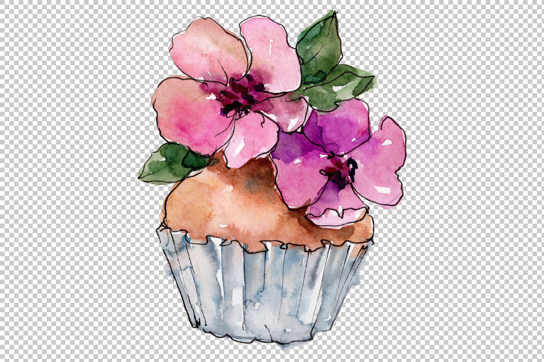 Dessert Friday Watercolor png example image 2