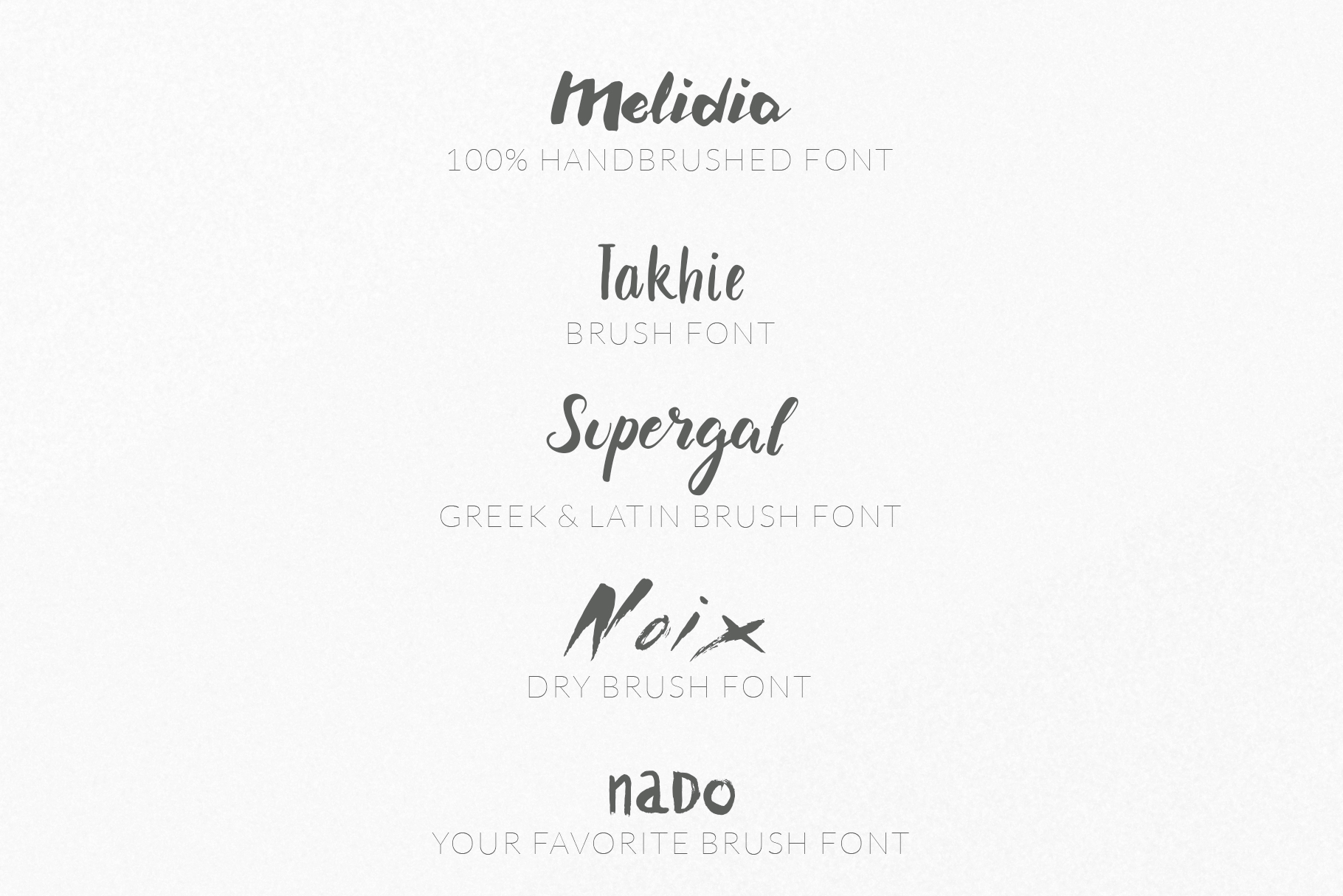 Brush Font Pack example image 2