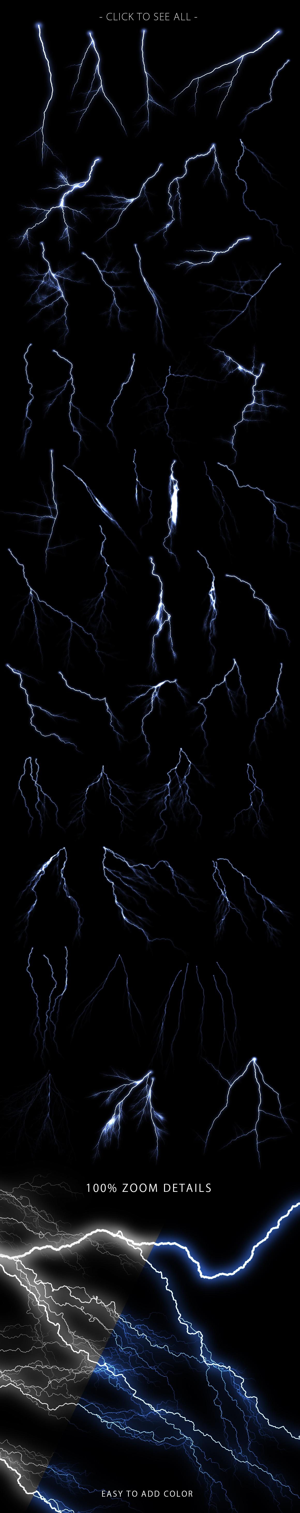 Lightning Photoshop Brushes example image 3