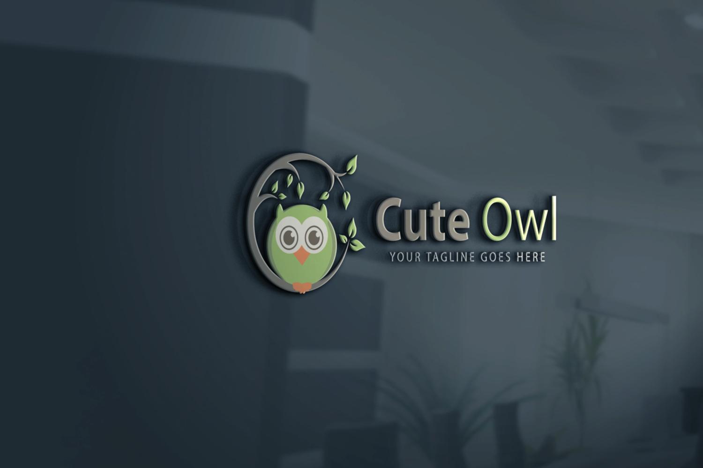 Cute Owl Bird Logo example image 3