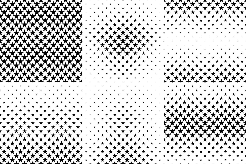24 Star Patterns (AI, EPS, JPG 5000x5000) example image 3