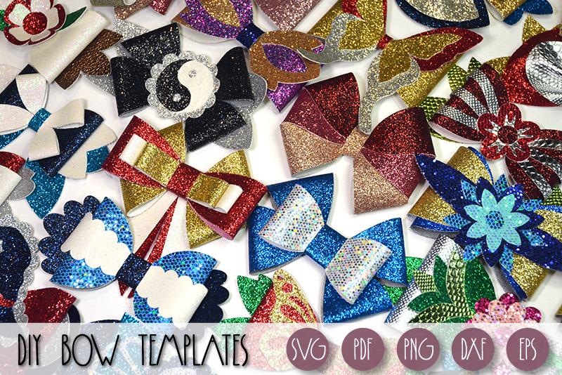 Hair bows template SVG bundle, 100 bows SVG huge bundle example image 4
