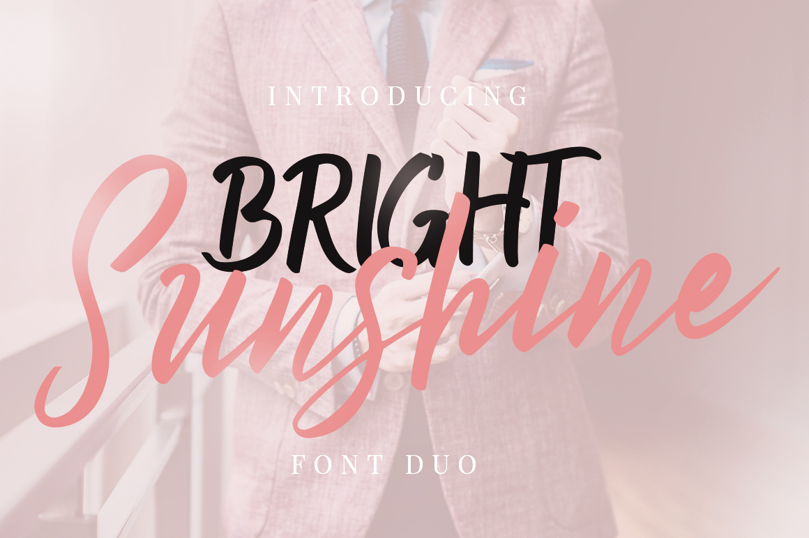 Bright Sunshine Font Duo example image 1