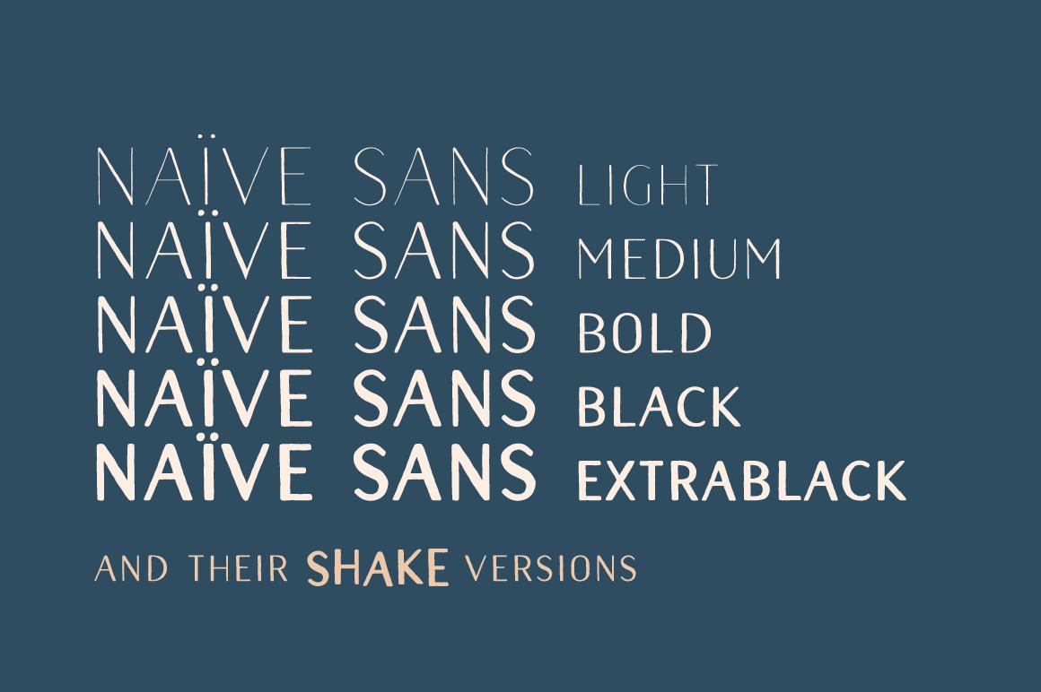 Naive Sans Family example image 2