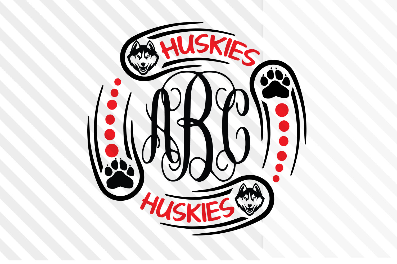 Monogram ,Huskies svg,logo,Football,Baseball,basketball,SVG example image 1