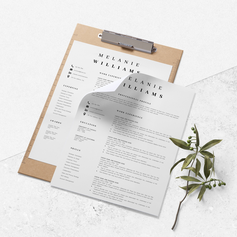 Resume Template Minimalist   CV Template Word - Melanie example image 9